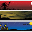 Abstract halloween banner series set8 - Stock Vector