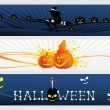 Abstract halloween banner series set14 — Stock Vector