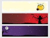 Abstract halloween banner series set6 — Stock Vector