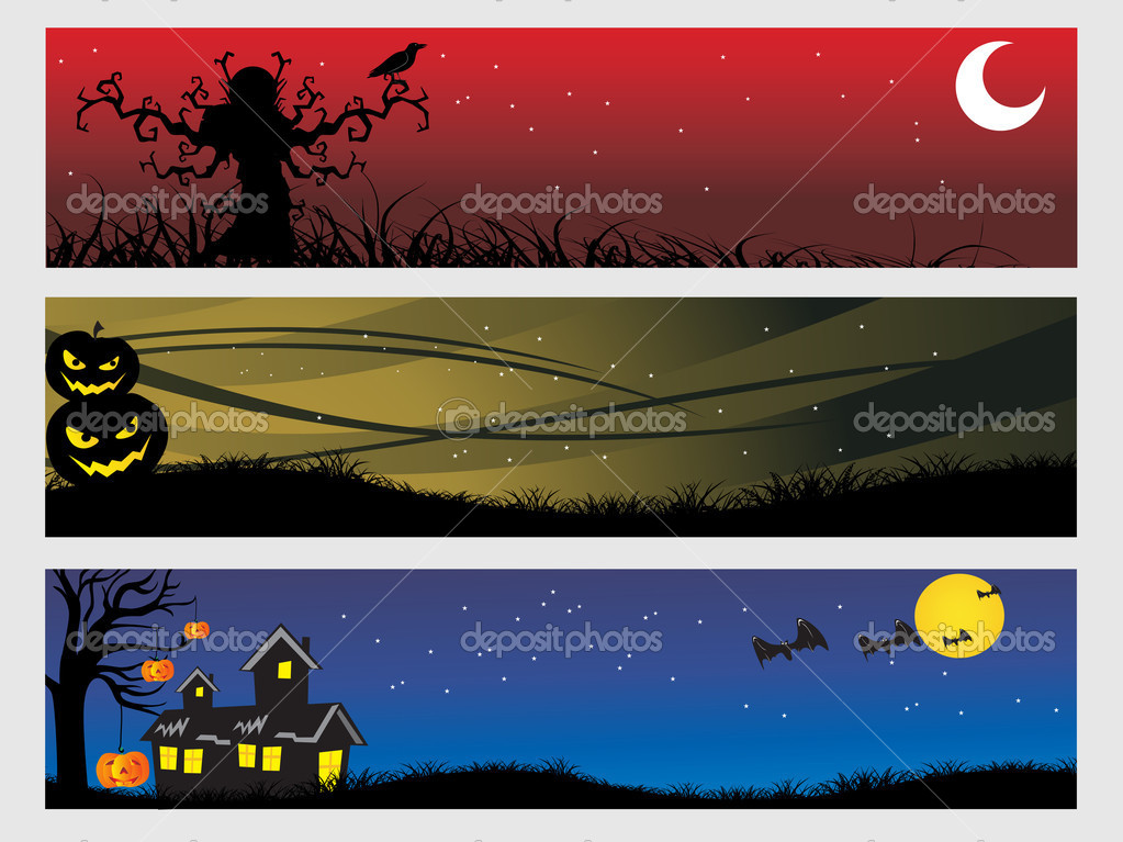 Abstract halloween banner series set8 — Stock Vector #1869817