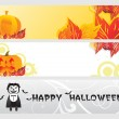 Abstract halloween banner series set22 — Stock Vector
