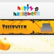 Abstract halloween banner series set18 - Stock Vector
