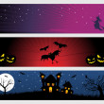Abstract halloween banner series set17 — Stock Vector