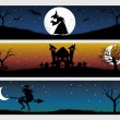 Stock Vector: Abstract halloween banner series set20