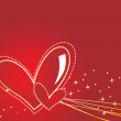 Royalty-Free Stock 矢量图片: Background with romantic heart