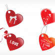 Royalty-Free Stock Vector Image: Heart tags with ribbon