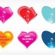 Royalty-Free Stock Vector Image: Heart shape stickers