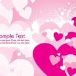 abstrakte Rosa Valentinstag-Karte — Stockvektor