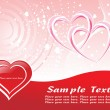 Red heart shape with pink valentine — Vector de stock #1872137