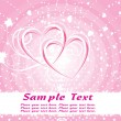 Pink valentine background vector — Vector de stock