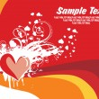 Stock Vector: Abstract valentine banner