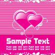 Abstract pink background text — Vector de stock