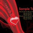 Royalty-Free Stock ベクターイメージ: Black background with love illustration