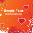 A beautiful valentine card - Imagen vectorial