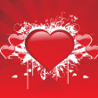 Stock Vector: Abstract red valentine background