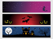 Abstract halloween banner series set17 — Stock Vector