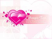 Pink valentine banner — Stock Vector