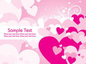 Abstract pink valentine card — Vector de stock