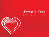 Red heart shape valentine card — Wektor stockowy