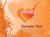 Abstract romantic vallentine text — Stock Vector