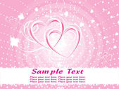 Pink valentine background vector — Stock Vector