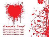 Beautiful heart-shape illustration — Stock Vector