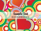 Abstract colorful valentine card — Vecteur