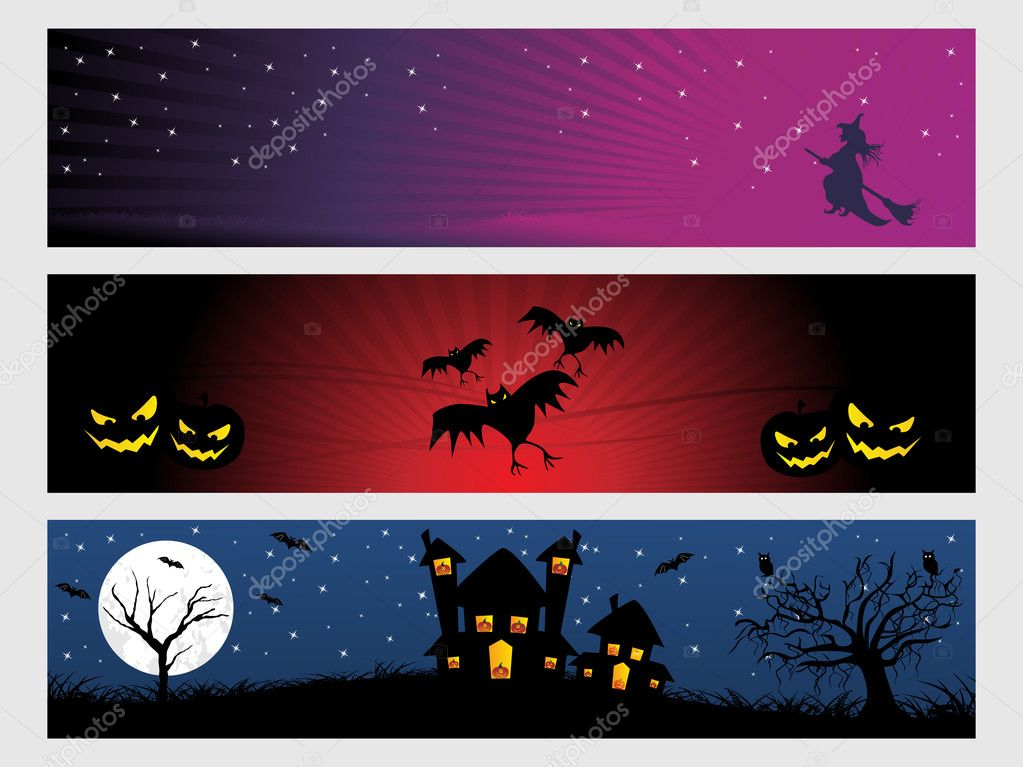 Abstract halloween banner series set17  Stock Vector #1870105