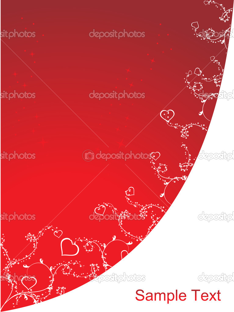 Heart ornaments design isolated on red  Stock Vector #1871087