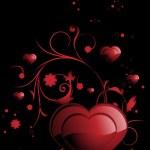 Romantic floral design heart — Stock Vector