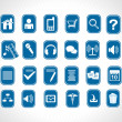 Royalty-Free Stock Vector Image: Icons on blue background
