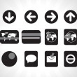 Icons use for website — Stock Vector