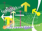 Green background of arrow — Stock Vector