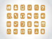 Icons on yellow background — Stock Vector