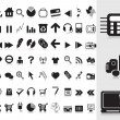 Vector de stock : Collection of black icons