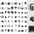Royalty-Free Stock Vector Image: Collection of black icons