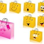 Shopping package vector — Stock Vector