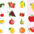 Background with fresh fruits — Stock Vector #1913198