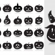 Stock Vector: Collection of halloween pumpkin