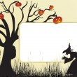 Illustration of halloween background - Stok Vektr