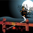 Illustration of halloween background - Stock Vector