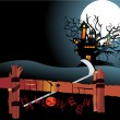 Royalty-Free Stock Vektorgrafik: Illustration of halloween background