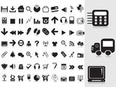 Collection of black icons — Stock Vector