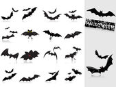 Collection of bats — Stock Vector