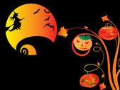 Ilustración de fondo de halloween — Vector de stock
