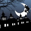 Illustration of halloween background - Imagen vectorial