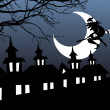 Illustration of halloween background - Grafika wektorowa