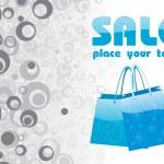 Vector of blue shopping bag — Stock Vector #1929549