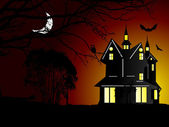 Illustration of halloween background — Stock Vector