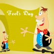 Vector fools day background - Stock Vector
